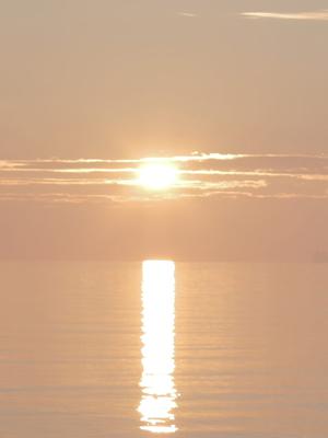 Solopgang over Øresund